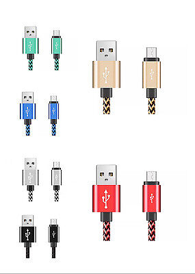 6FT Rapid Charge Braided Micro USB Cable Long Fast Sync Charging Cord Charger