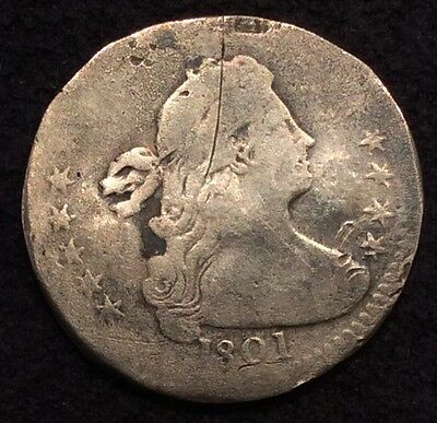 1801 Draped Bust Half Dime 5¢ AG With CJY Counterstamp - MAKE AN OFFER!