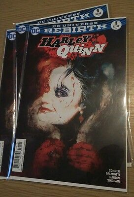 HARLEY QUINN # 1 Rare Bill Sienkiewicz Variant Cover After Rebirth DC Comics
