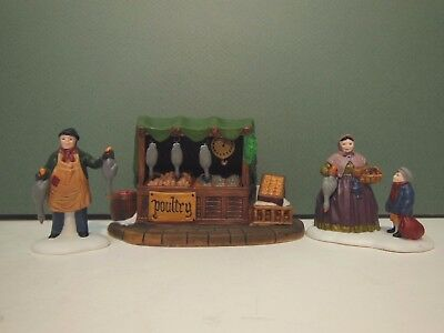 NEW Dept 56 Poultry Market Set of 3 Dickens Never Displayed 55590 D56 DV NIB