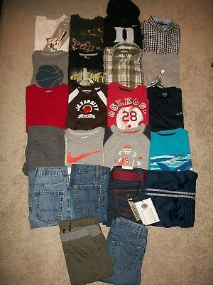 Guc! Lot Of 22 Boys Size 6 7 Namebrand Fall Winter Nike Tcp Old Navy Tommy Hilfi