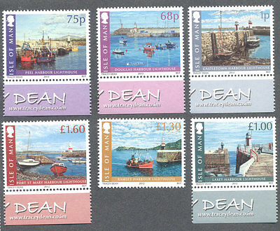 Isle of Man -Lighthouses-mnh set