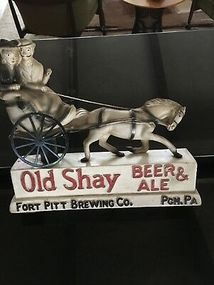Vintage Old Shay Chalk Beer & Ale Back Bar Advertising Ft. Pitt Brewing Pa