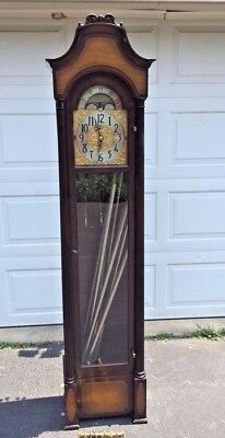 Vtg Electric Herschede Grandfather Clock 9 Tubes 1929 Not Running Missing Pieces
