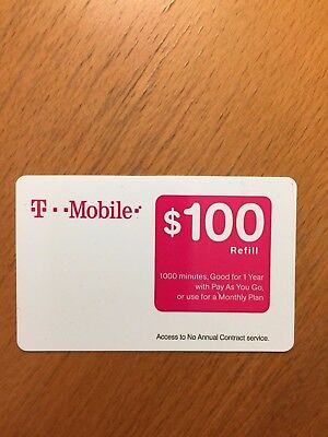 T-Mobile $100 FASTEST REFILL Card