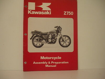 Manual KAWASAKI Assembly & Préparation  Z750 1979