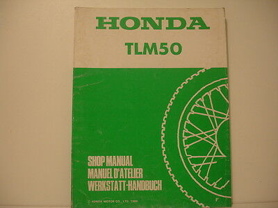 Honda Tlm 50 Trial Manuel Atelier Workshop Manual De Taller