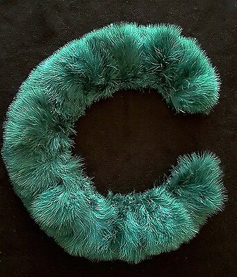 Teal Marabou Feather Fringe