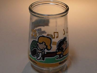 Vintage Welch's Jelly Glass Peanuts Comic Classics Let's Just Play Along