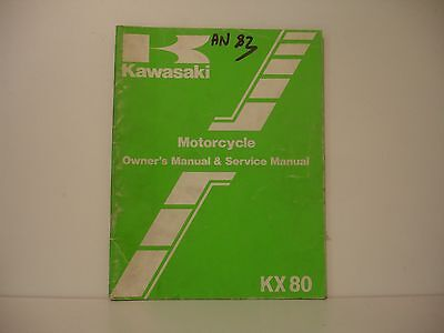Kawasaki 80 Kx 1983  Manuel Atelier Workshop Manual De Taller