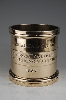 Very Rare Imperial Standard Bronze ½ Gallon Measure - Hallikeld N. Yorks 1835