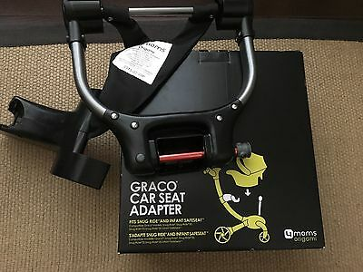 NEW 4moms Origami Graco Snugride Classic Connect Series Car Seat Adapter, Black