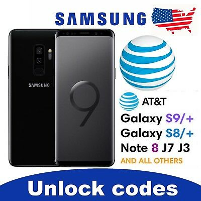 Unlock Service-Code for AT&T SAMSUNG GALAXY MODELS S9, S8, S7, S6, Note 9, 8.