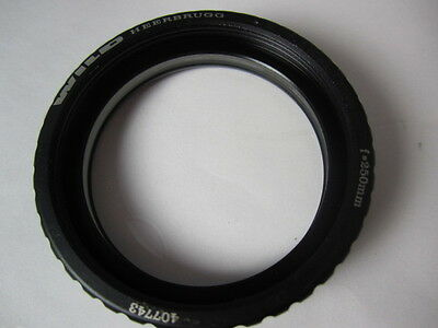 f=250 mm Leica Wild surgical  Microscope Objective Lens 407743,  65mm, w/adapter