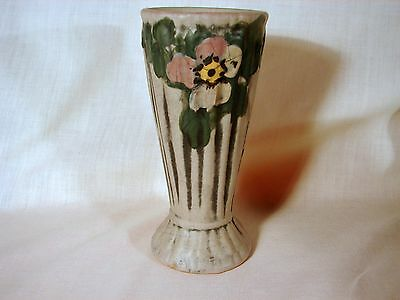 Old Weller Louella 6in Floral Bud Vase, Excellent Condition, ca. 1915, Die Mark