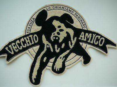 Very RARE  Italian Embroidered DOG Advertisement Letter Patch Sew On   Italy