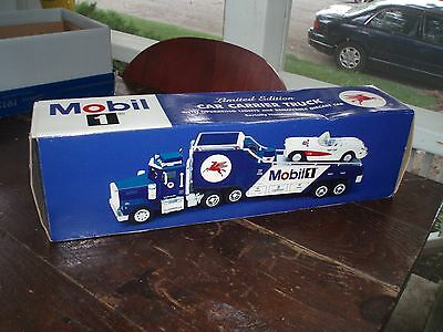 2000 Taylor Made Trucks Mobil 1 Car Carrier Truck W/removable Die Cast 57 Vette