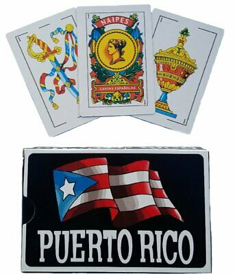 LOT OF 6 Puerto Rico Briscas Espanola Naipes Playing Cards CARTAS ( 50 CARDS )