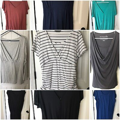 Maternity Nursing Breastfeeding Clothing Lot L Large 14 Pieces