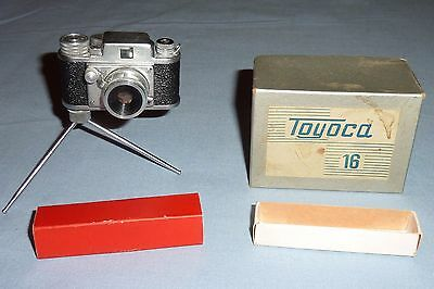 Vintage Toyoca Subminiature 16 mm. Camera with Tripod and Box