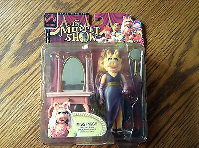 The Muppet Show Miss Piggy Dressing Room Set Palisades Series 1 Ab4