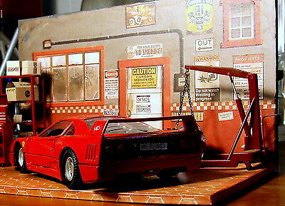 2D Diorama model car 1/24 + air con unit + bonus 10 posters Collectible
