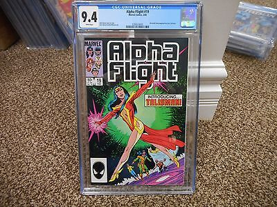 Alpha Flight 19 cgc 9.4 1st appearance of Talisman Marvel 1985 WHITE pages NM M