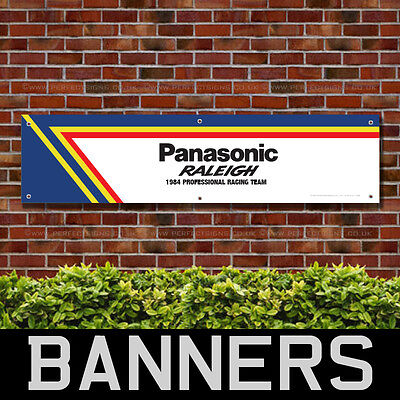 Raleigh Panasonic Bicycles PVC Banner Garage Workshop Retro Sign (BANPN00174)