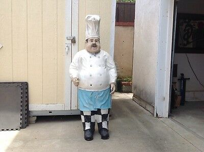 Vintage Chef Pizzaria Baker Statue in Fiberglass