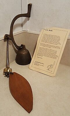 Vintage Original RICHARD FISHER Solid Bronze Wind Bell / Door Bell - RF Logo