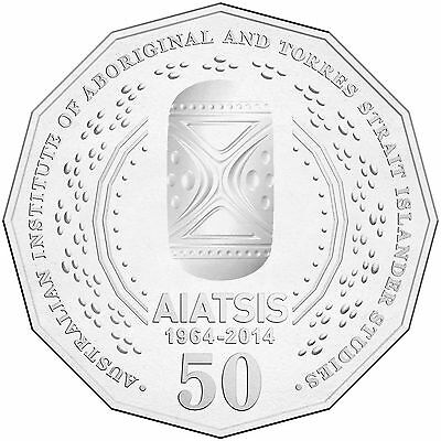 Australian Fifty 50c cent coin - 2014 - AIATSIS 50th Anniversary from Mint Roll
