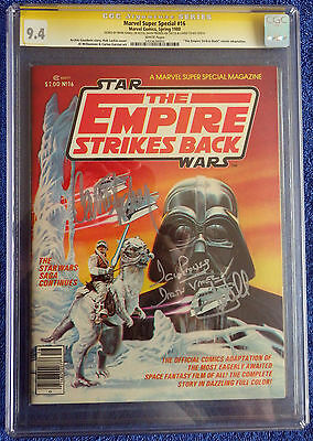 Marvel Super Special #16 CGC 9.4 White Pages - Empire Strikes Back 3 Signatures!