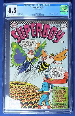 Superboy #127 (CGC 8.5) (1966, DC) WHITE PAGES!