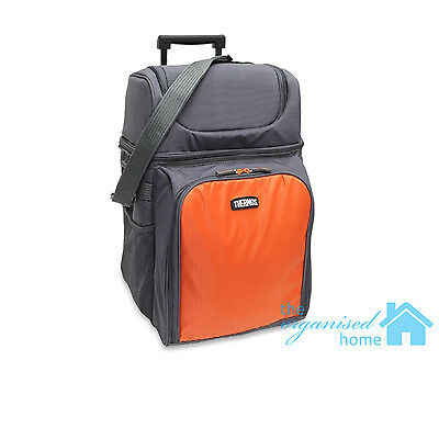 Thermos Picnic Backpack Set 4 Person on Wheels with Insulated Cooler Section