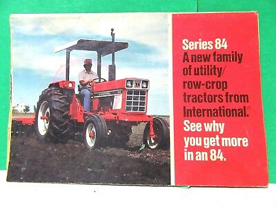 Ih Series 84 A New Family Of Utility / Crop Tractor Brochure