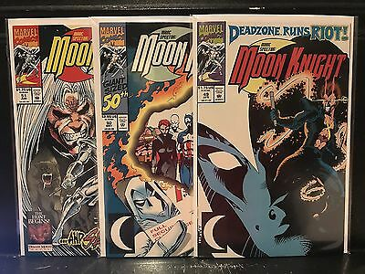 Lot of 3 Marc Spector Moon Knight #49 50 51 (1989 Marvel) Combined Shipping Deal