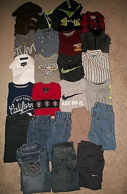 Lot Of 24 Boys Size 4 4T Fall Winter Namebrand Nike Gymboree Old Navy Guc!