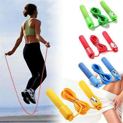 Speed Jump Rope Sweatband Handle Skipping Boxing Exercise Workout With Counter
