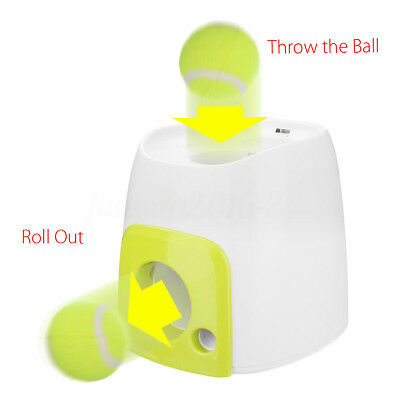 Automatic Pet Dog Launcher Tennis Ball Thrower Throw Up Hyper Training Game