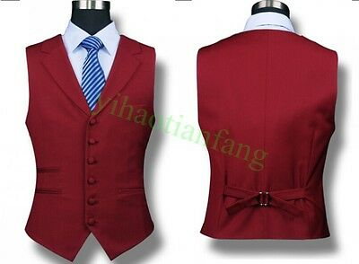 Mens Wedding Lapel Formal Riding Slim Fit Waistcoat Business Dress Vest Fashon
