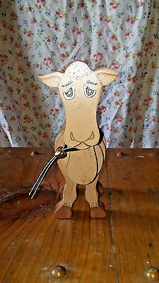 Vintage Wooden Hand Painted Camel