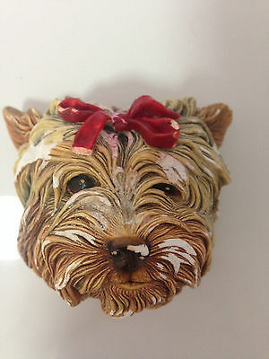 Vintage 1959 Bossons England Collectable YorkshireTerrier Dog Cast Wall Hanging