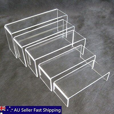5pcs 4mm Super Deal Clear Acrylic Perspex Sturdy Jewellery Display Riser Stand