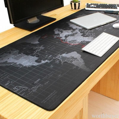 Non-Slip World Map Speed Mouse Mice Pad Mat Laptop Gaming Mousepad Large Size R7