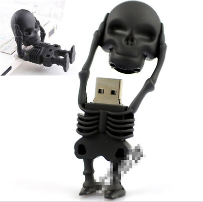 USB Flash Drive Human Skeleton Pen Drive Cartoon U Disk Skull Memory 2/8/16/G