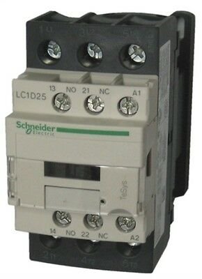 Schneider Electric TeSys Offer (LC1D25U7) 3Pole Contactor ;11kW ; 240V AC Coil