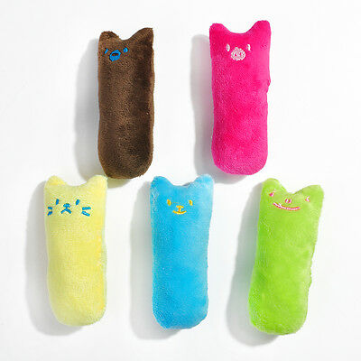 HOT Cat Kitten Teeth Pillow Interactive Scratch Crazy Kicker Catnip Toy Grinding