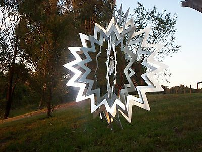 Silver splash wind spinner