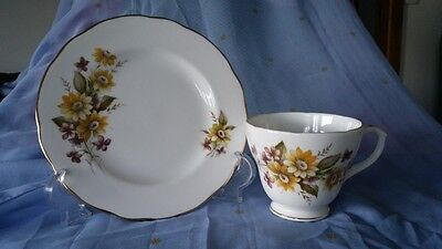 "Duchess Bone China ""Susie"" 406 Tea Cup and Side Plate"