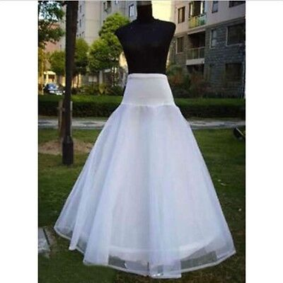 Hoop 1 3 Layer White Wedding Bridal Gown Dress Underskirt Petticoat